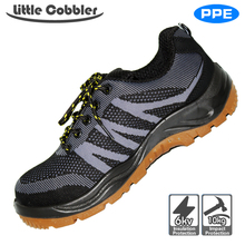 Men's Plus Size Breathable Mesh Steel Toe breathable lightweight casual work shoes safety boots protect footwear
