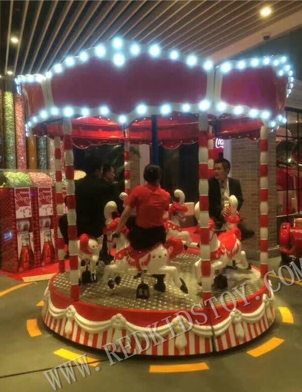 Carrousel électrique chevaux Funfair manèges électriques joyeux tour à la fois pour les adultes et les enfants HZ16-273d