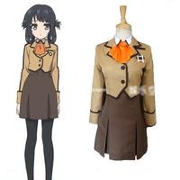 Anime Nagi no Asukara Shiodome Miuna Cosplay Costume Full Set JK School Uniform Japan Uniform Coat+Shirt+Skirt+Tie
