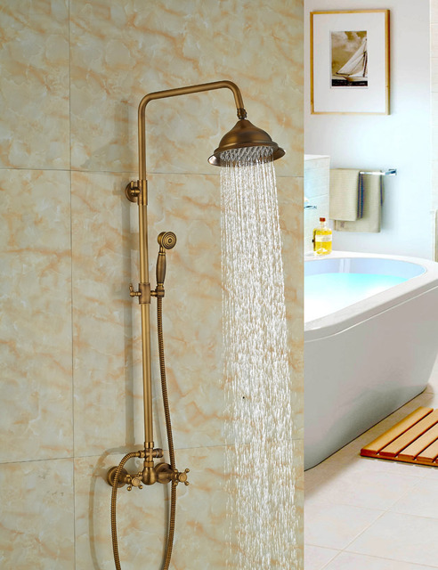 Wholesale And Retail Solid Brass Antique Style Rain Shower Head ...