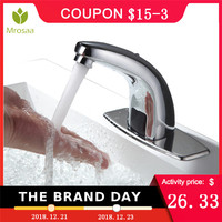 Automatic Inflared Sensor Faucet Bathroom Sink Water Saving Inductive Electric Water Tap Mixer Touchless Coldwater Sensor Faucet