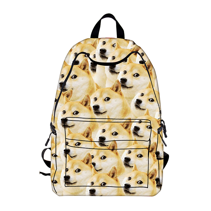 Cool Dog Shiba Inu Backpacks For Teenagers Boys Girls School Bags Young Women Men Animals Travel Bag Children School Backpack