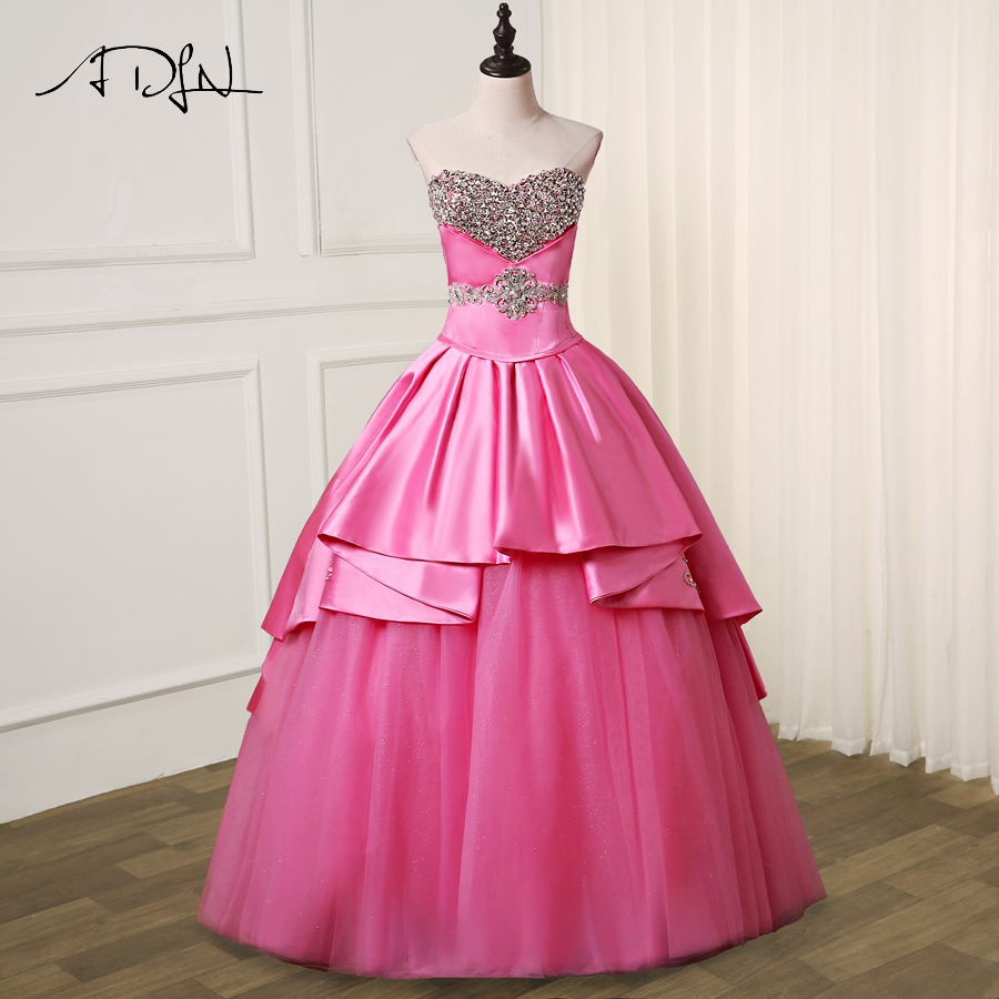ADLN High Quality   Prom     Dresses   Sweetheart Sleeveelss Sparkling Crystals A-line Evening Party   Dress   Special Occasion   Dress