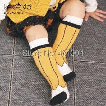 Kacakid Cotton baby socks boys girls Socks Childrens Long Sock Kids cute Anti-slip Socks