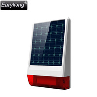 Free Shipping 2015 New Hot High Quality GSM Alarm System 433mhz 315MHZ Solar Siren For Wireless