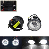 Auto Car Front Fog Light Assembly W Daytime Running DRL Guide Halo Ring For Chrysler For