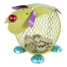 Filhote de Cachorro verde Banco Do Dinheiro de Metal Prático de Artesanato Decoração da Casa de Artesanato Coleta Caixa de Poupança Mealheiro Presentes para o miúdo Favor Artesanato