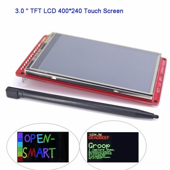 """3.0"""" TFT LCD Touch Screen Resistive 400*240 Display Panel Breakout Board Module R61509V for Arduino UNO R3 OPEN-SMART FZ3286"""