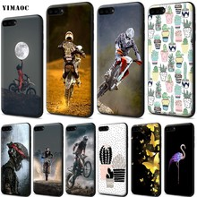 YIMAOC Motocross Dirt Bikes Silicone Soft Case for iPhone 11 Pro XS Max XR X 8 7 6 6S Plus 5 5S SE(China)