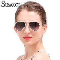 SARACOCO Luxury Women Brand Designer Polarized Pilot Sunglasses Men 2017 Vintage Polarizing UV400 Driving Sunglasses CO035