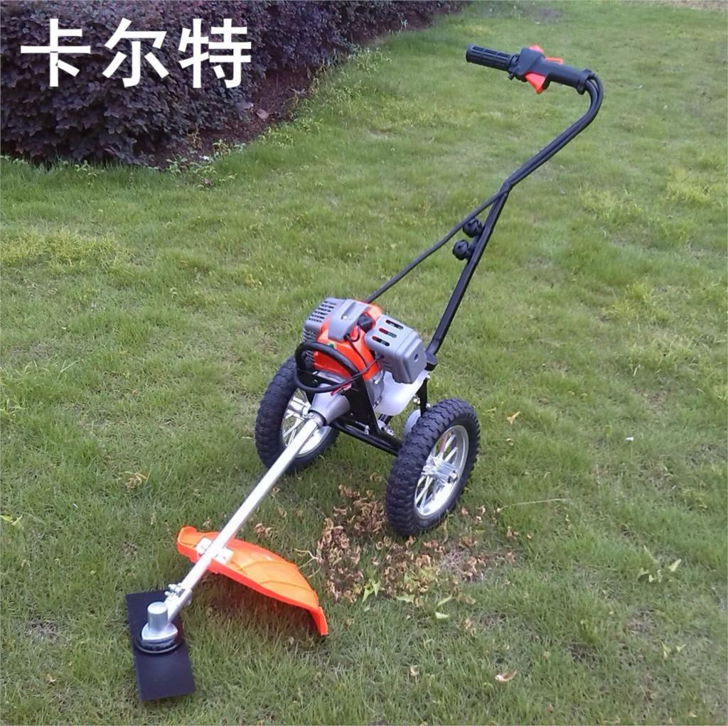 Small Hand Push Lawn Mower Two Stroke Four Gasoline