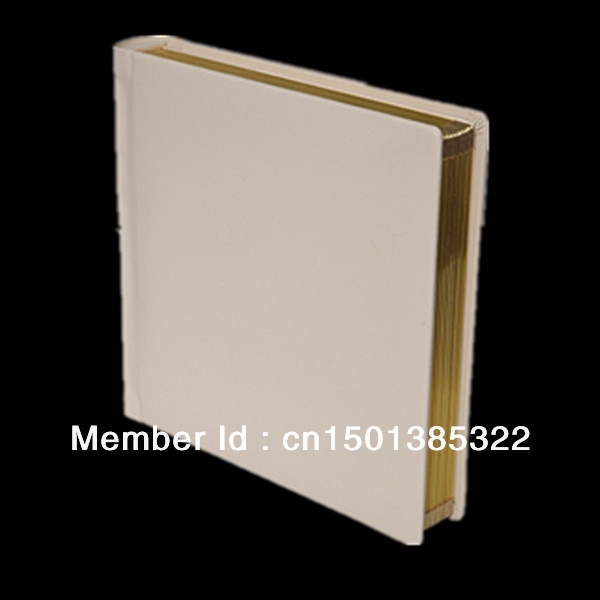 Ivory Leather Cover 8x10 Wedding Photo Album With Slip In Pages In