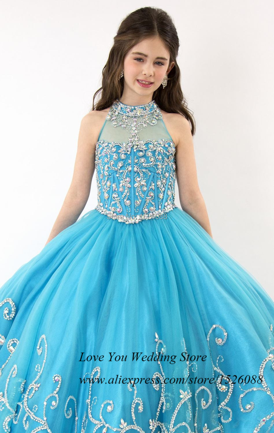 Princess blue modest ball gown flower girl dresses for weddings princess blue modest ball gown flower girl dresses for weddings 2015 junior bridesmaid dress sleeveless prom dress children in flower girl dresses from ombrellifo Image collections