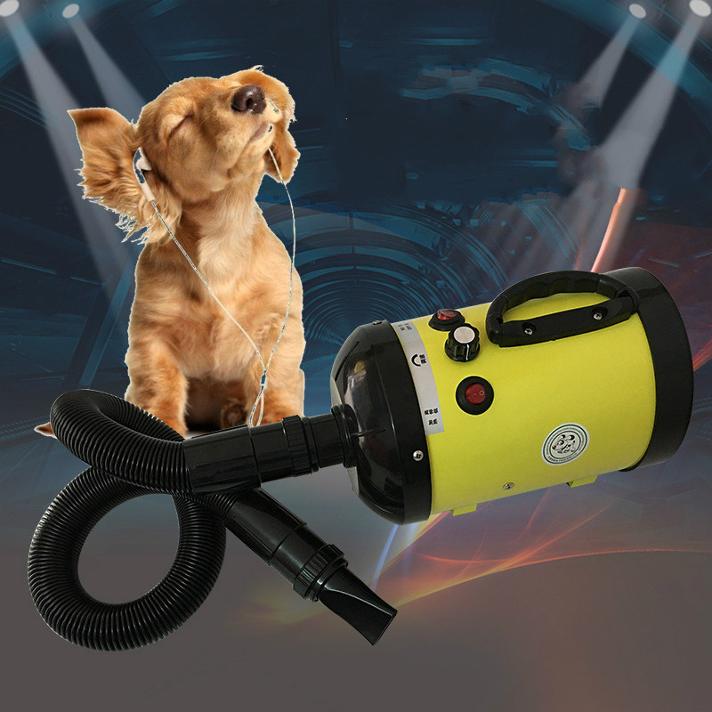 2800W Pet Blowing Machine Mute High Power Hair Dryer Professional Big Dogs And Cats Blow Drier Dedicated Non-crane Style EU Plug