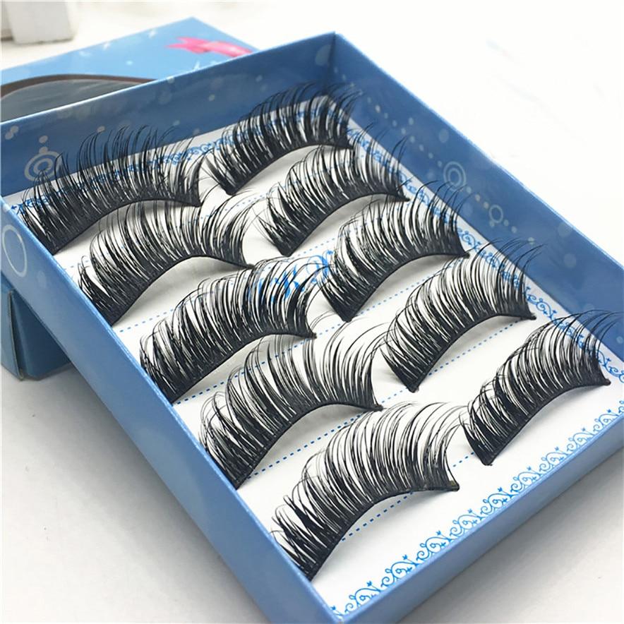 big sale make up tool 5 pair Thick style 3D False Lashes Fluffy Strip Eyelashes Long Natural Party #30