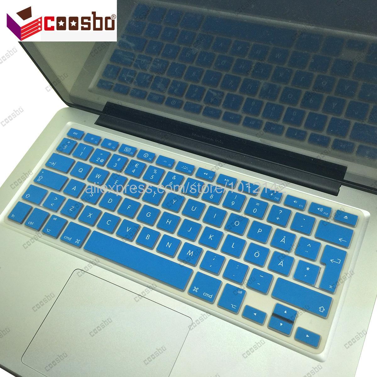 50 pcs gros suède suédois Silicone Keyboard Cover peau de Protection pour Mac Macbook Air Pro Retina 13 15 17 Imac G6