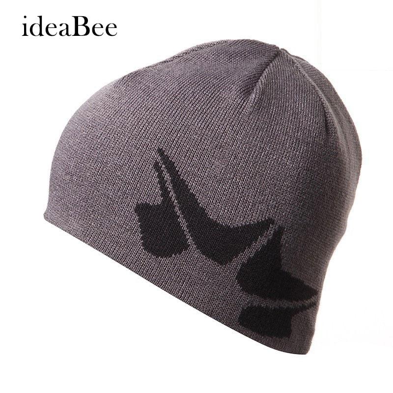 ideacherry Men Cool Skullies & Beanies Knitted Beanie Women Women'S Autumn Hats Gorros E Toucas Winter Hat For Women skullies