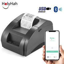 Термальный принтер Zjiang 58 мм POS чековый принтер Bluetooth USB порт для мобильного телефона Android, IOS, Windows для и супермаркета