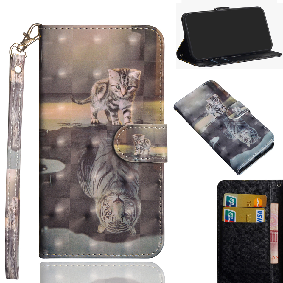XperiaL3 3D Painted Wallet case Leather Cover For Sony Xperia L3 Case Smartphone Protector Covers Flip case L 3