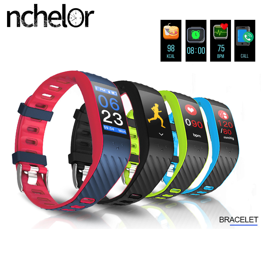 Fitness Tracker Wristband IP67 Waterproof Bluetooth Colorful UI Watch Heart Rate Monitor Calorie Counter Bracelet for Android waterproof pulse heart rate monitor watch calorie counter sport exercise hmy