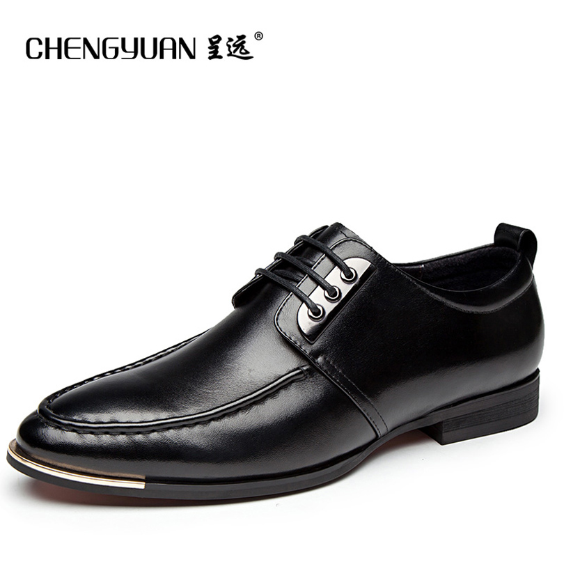 Mens British lace up business leather shoes point toe flats black casual leather shoe men shoes  CHENGYUAN zdrd new fashion genuine leather men business casual shoes british low top lace up suede leather mens shoes brown red men shoes