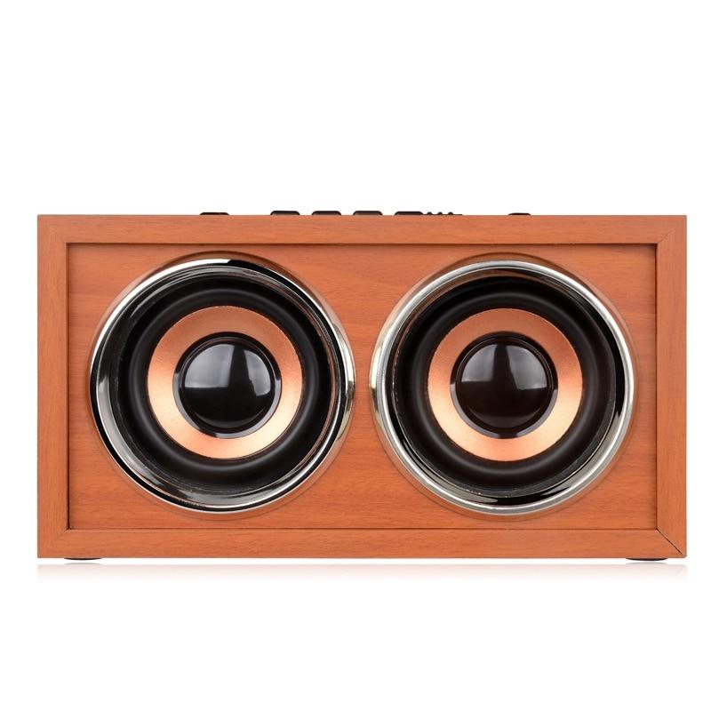 Wooden Bluetooth Wireless Speaker Super Bass 3D Surround Stereo Dual Loudspeaker
