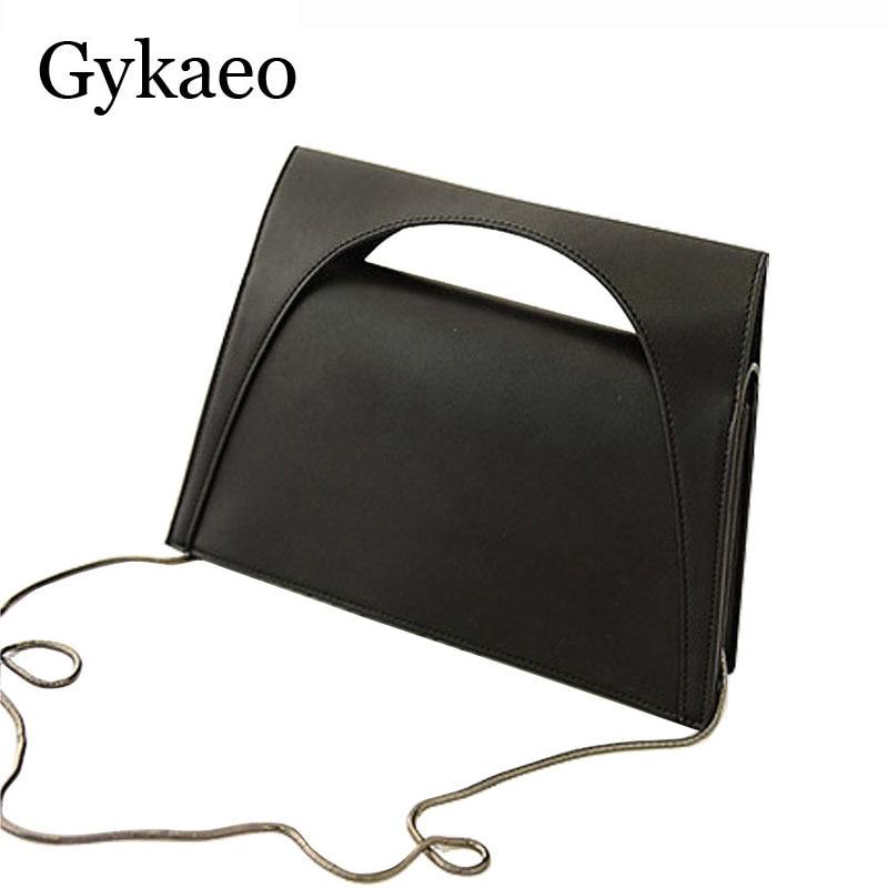 Hot Flap Womens Luxury Leather Black Clutch Bag Ladies Handbags Brand Women Messenger Bags Sac A Main Female Short Handle Bag