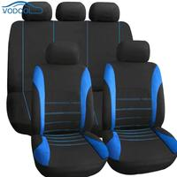 Full Set Car Seat Protector 9pcs Car Seat Covers Polyester Auto Interior Accessories For Front Rear