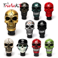 Triclicks Universal Manual Operation Car Gear Shift Knob Shifter Lever Resin Ten Colors Skull Handle Konbs Modification Covers