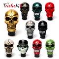 Triclicks Universal Manual Operation Car Gear Shift Knob Shifter Lever Resin Ten Colors Skull Handle Konbs Modification Covers