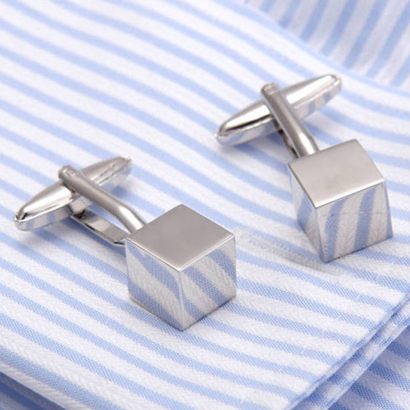 DoreenBeads Silver Gold Fashion Cufflinks Silver Bube Style Creative Playful Gift For Men Boy Cuff Link Wedding Business,1Pair