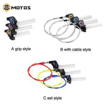 ZS MOTOS 22mm acelerador agarre giro de acción rápida acelerador ajuste + Cable ajuste KAYO Apollo Bosuer Dirt Pit Bike 50cc 110cc 125cc