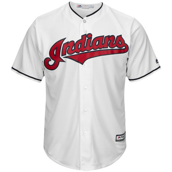 MLB Mens Cleveland Indians Francisco Lindor Baseball Alternate Navy Official Cool Base Replica Player Jersey