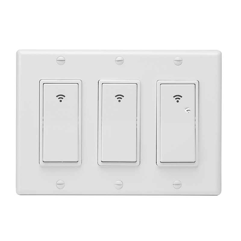 WiFi Smart Wall Light Switch Timing Function Suit for 3Gang Switch Box Works with Alexa Google Home remote control light key