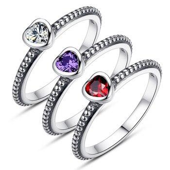 77643efdffbc Aliexpress Venta caliente de plata amor corazón anillos para las mujeres  Compatible con anillo Original S925 regalo de la joyería