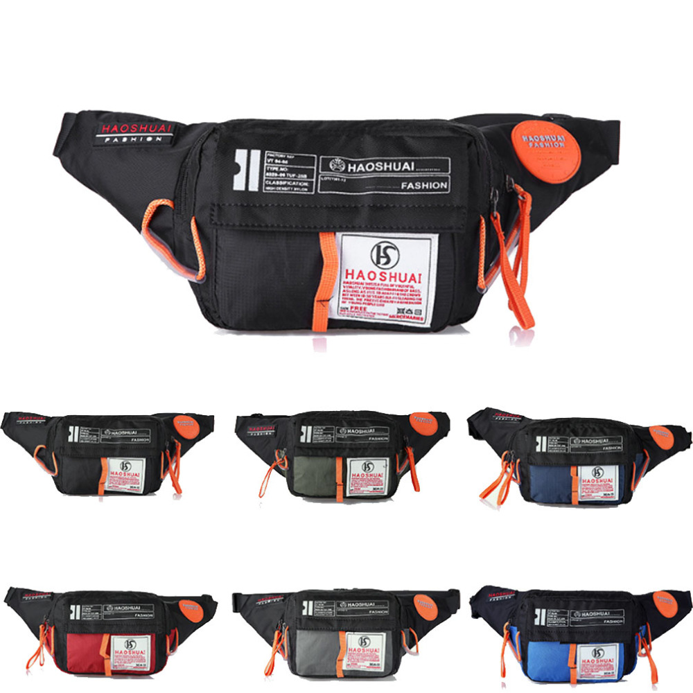2018 Men Waterproof Nylon Sling Chest Fanny Pack Waist Bag Hip Bum Belt Messenger Shoulder Pouch Purse practical 89800mah 12v 4usb car battery charger starting car jump starter booster power bank tool kit for auto starting device