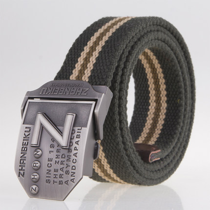 New men's canvas   belt   luxury Alloy buckle military   belt   Army tactical   belts   for Male jeans top quality men strap