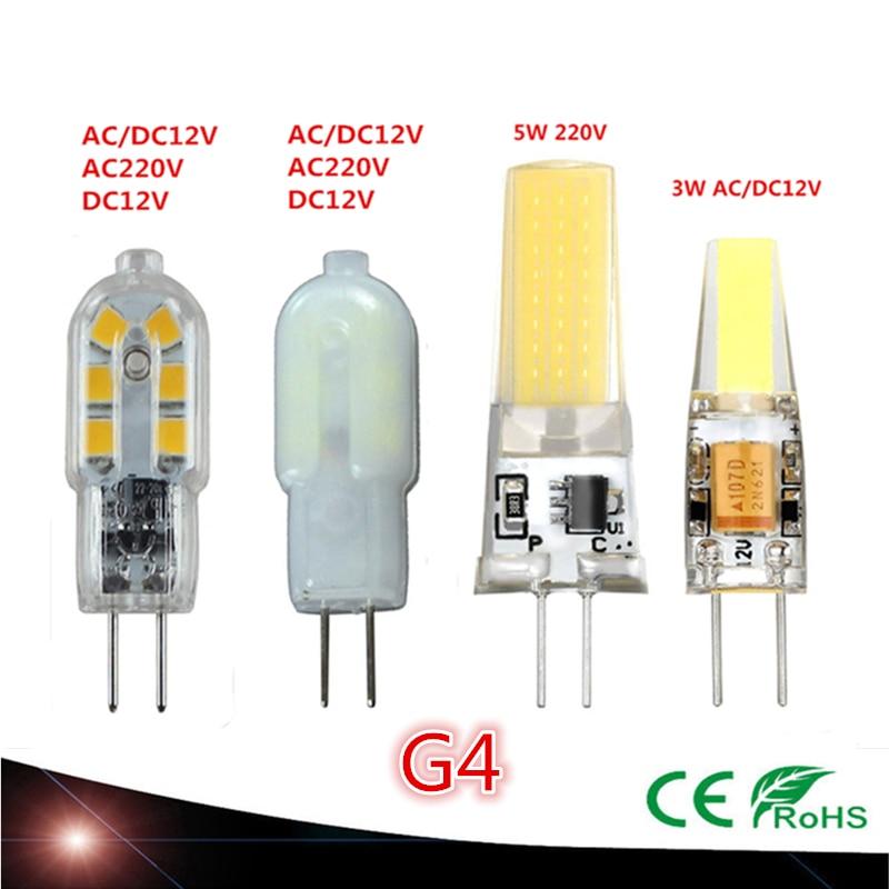 New High quality AC220V AC/DC12V DC12V G4 LED 3W G4COB LED 3W 5W Corn Light SMD bulb Super bright Replace Halogen Lamp Led LightNew High quality AC220V AC/DC12V DC12V G4 LED 3W G4COB LED 3W 5W Corn Light SMD bulb Super bright Replace Halogen Lamp Led Light