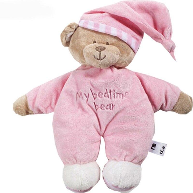 32 CM Rosa Blau My Schlafengehen Bären neugeborenen Weiche plüschtiere Sleeping Bear mit Tags
