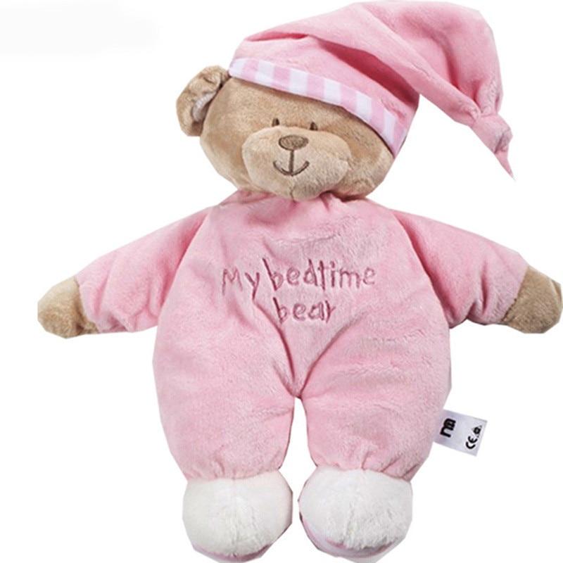 32CM Pink Blue My Bedtime Bear Newborn baby Soft plush Toys Sleeping Bear with Tags