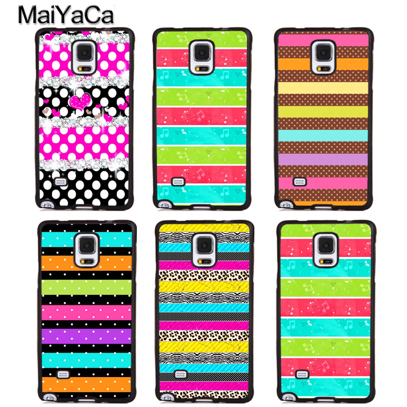 MaiYaCa Pink Glitter Leopard Girly Stripes Soft TPU Phone Cases For Samsung S5 S6 S7 edge plus S8 S9 plus Note 4 5 8 Cover Coque