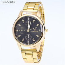 SmileOMG Hot Sale Fashion New Mens Gold Watches Diamond Dial Gold Steel Analog Quartz Wrist Watch Free Shipping,Aug 27
