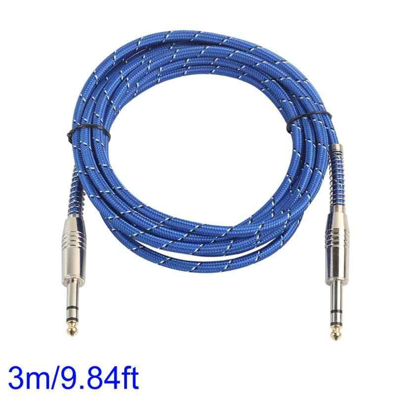 Электрический гитарный миксер стерео кабель 6,35 мм штекер до 6,35 мм мужской аудио кабель двухканальный провод для микрофона 1 м/1,8 м/3 м