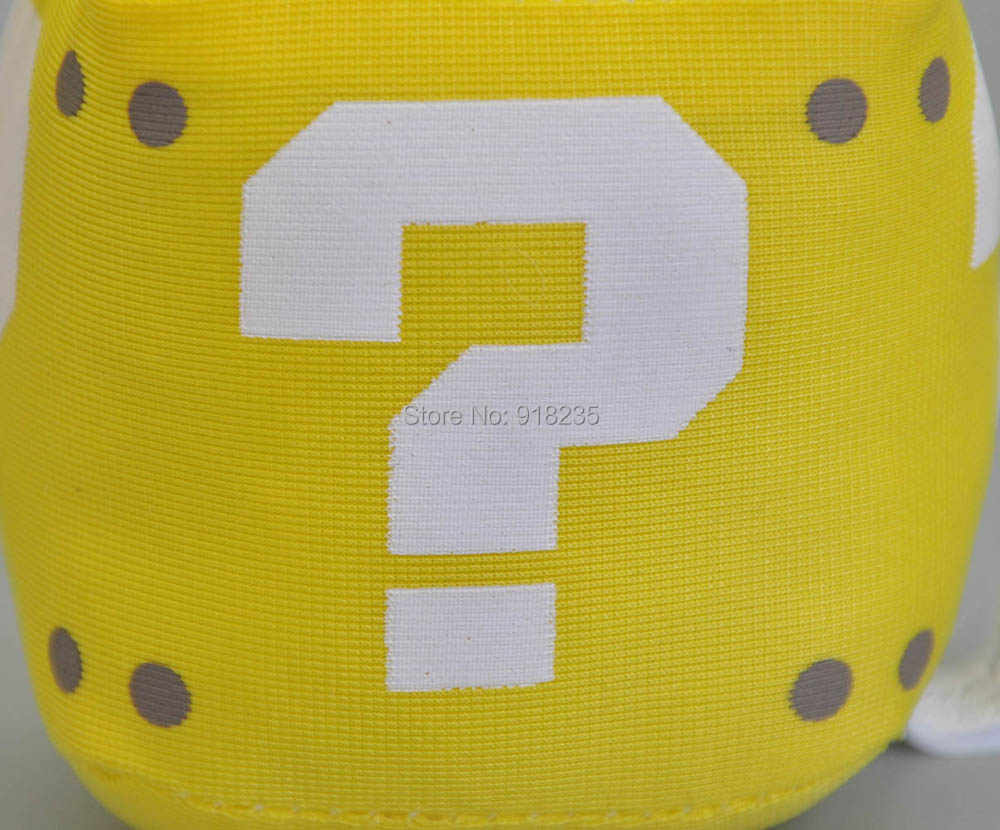 """Супер Марио Bros 3 """"Вопрос кубик с символом подвеска плюшевая кукла брелок для Подарочные мягкие игрушки PCXB"""