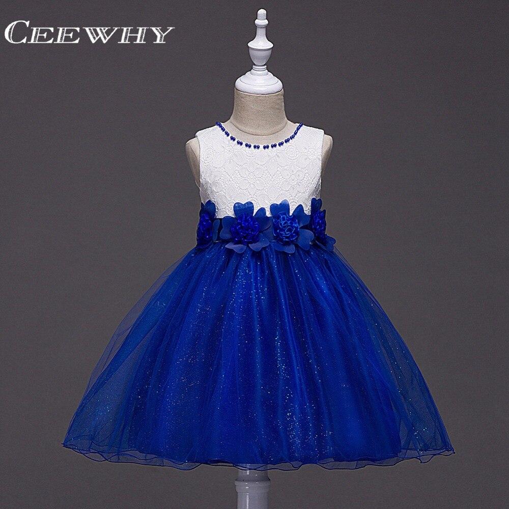 CEEWHY Noel Parti Prenses Kız Elbise Kızlar Düğün Çiçek Kız Elbiseler için Komünyon Elbiseler Balo Elbise