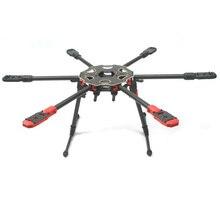 Tarot 680PRO estante de fibra de carbono pura 680 PRO 6 eje multicóptero Marco de avión hexacóptero plegable con equipo de deslizamiento de aterrizaje TL68P00
