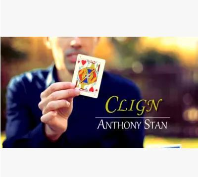Free Shipping 2016 new Clign by Anthony S (Gimmick+Online Instruct)  - Card Magic Tricks Close Up Magic Props Illusions Fun