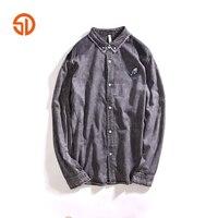 Spring Autumn Fashion Cotton Denim Shirt Men Long Sleeves Jean Shirt Mens Casual Shirts For Man