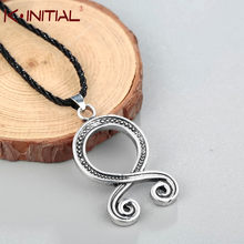 Kinitial Troll Cross Charm Necklace Retro Folklore Vikings Protection Pagan Symbol Runes Amulet Norse Pendants Necklaces Jewelry(China)
