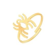 ACEBFEET Spider Ringe Einstellbare Schmuck Edelstahl Gold Silber Bijoux Boho Frauen Anneau für Damen Brautjungfer Geschenke